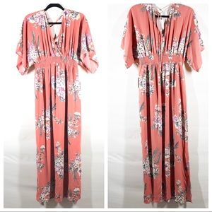 Jessica Simpson Floral Maternity Maxi Dress